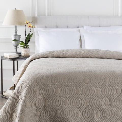 Connie Solid Color Linen Quilt