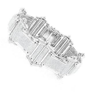 Luxurman 14k Gold Men's 8ct TDW Diamond Bracelet (H, SI1-SI2)