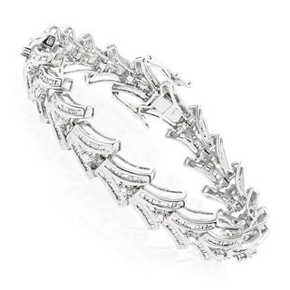 Luxurman 14k Gold 5ct TDW Baguette-cut Diamond Bracelet (H, SI1-SI2)