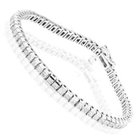Luxurman 14k Gold 4 4/5ct TDW Princess-cut Diamond Tennis Bracelet (H, SI1-SI2)