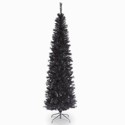 6 ft. Tinsel Tree - Black