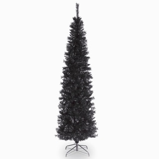 6 ft. Tinsel Tree  Black