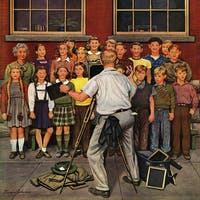 Marmont Hill - School Pictures by Stevan Dohanos Painting Print on Canvas - Multi-color