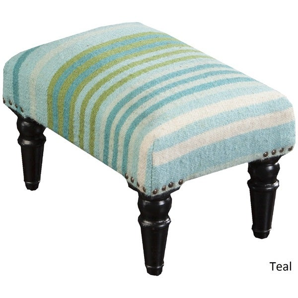 Antioch striped cocktail ottoman 12 x 12 x 18 free for Living room 18 x 12