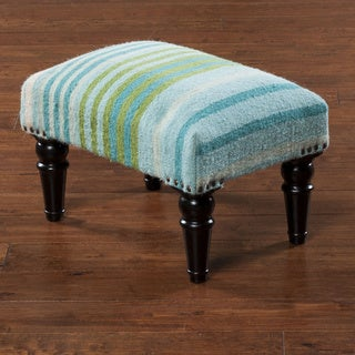 "Antioch Striped Cocktail Ottoman (12 x 12"" x 18)"