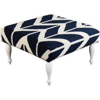 "Balloon Chevron Cocktail Ottoman (32"" x 32"" x 18"")"