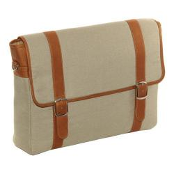 Piel Leather Saddle Flap-Over Laptop/Tablet Portfolio