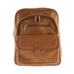 Piel Leather Medium Buckle Flap Backpack 3060 Honey