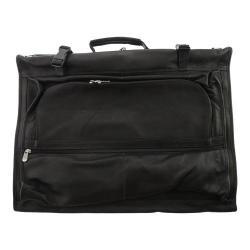 Men's Piel Leather Tri-Fold Garment Bag 3035 Black