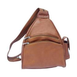 Piel Leather Two Pocket Saddle Sling Backpack