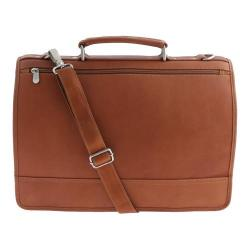 Piel Leather Saddle Two-Section Expandable Laptop Portfolio