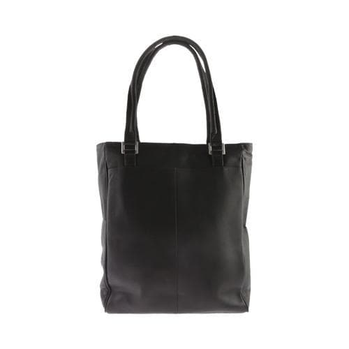 Women's Piel Leather Vertical Laptop Tote 3034 Black