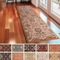 Hand Tufted Patchway Wool Runner Rug 3 X 12