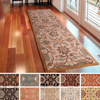 handtufted patchway wool runner rug 3u0027 x