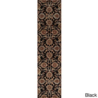 Hand-Tufted Patchway Wool Area Rug - 2'6 x 8' (Option: Black)