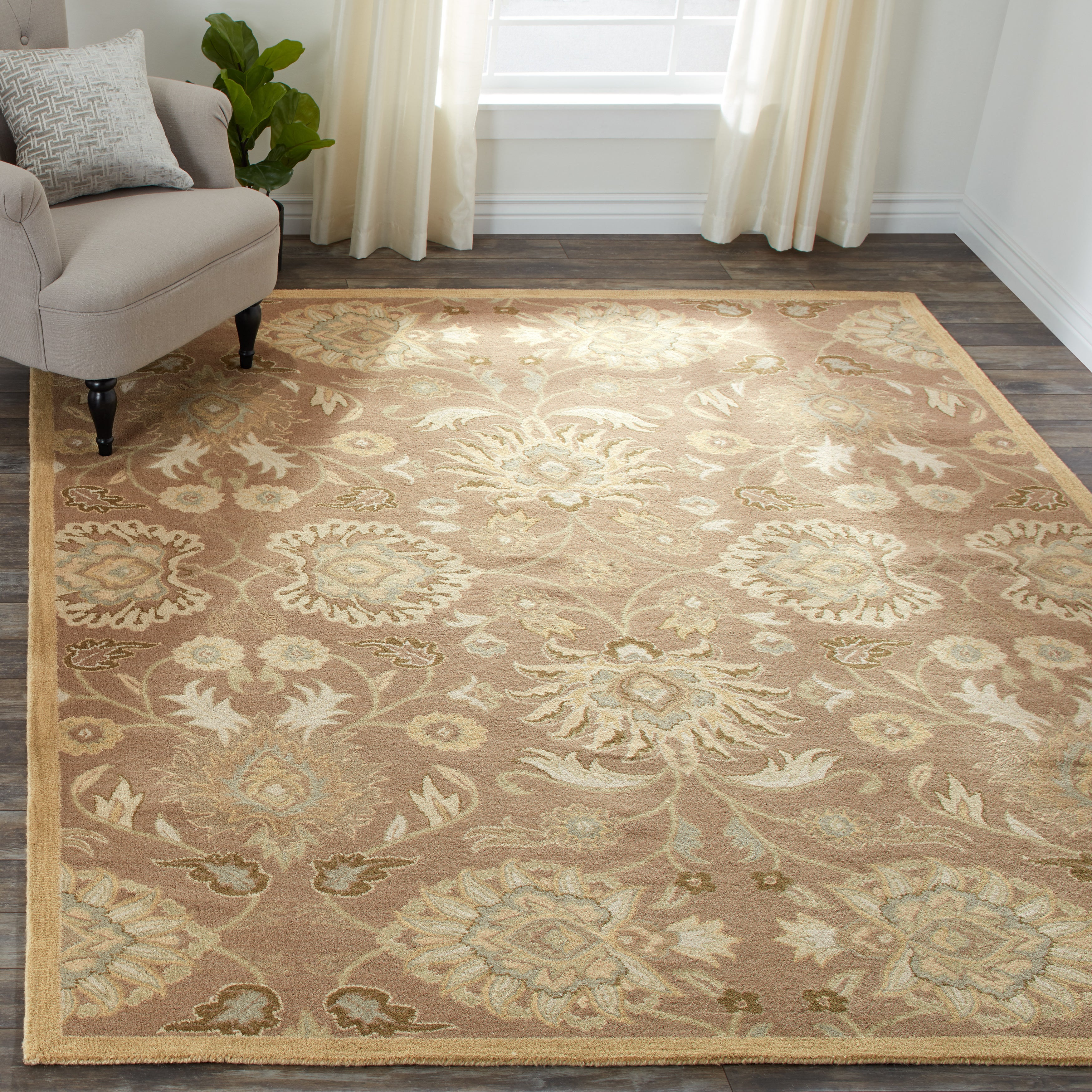 Patchway Handmade Classic Floral Wool Area Rug On Sale Overstock 10633125