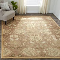 Hand-Tufted Patchway Wool Area Rug - 2'6 x 8'