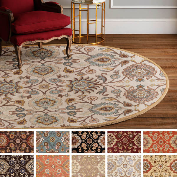Hand Tufted Patchway Wool Area Rug 8 X 10 Oval Free