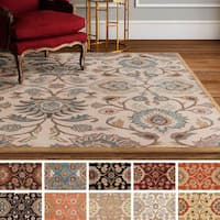 Hand-Tufted Patchway Wool Area Rug (8' Square) - 8' Square