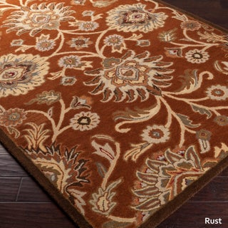 Hand-Tufted Patchway Floral Wool Area Rug (8' x 11') (More options available)
