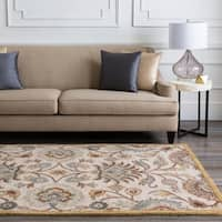 Hand-Tufted Patchway Floral Wool Area Rug - 8' x 11'