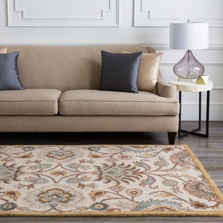 Hand-Tufted Patchway Floral Wool Area Rug (8' x 11')