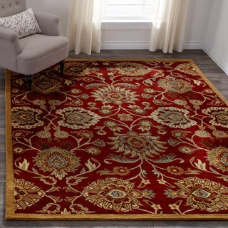 Hand-tufted Floral Wool Area Rug (7'6 x 9'6)