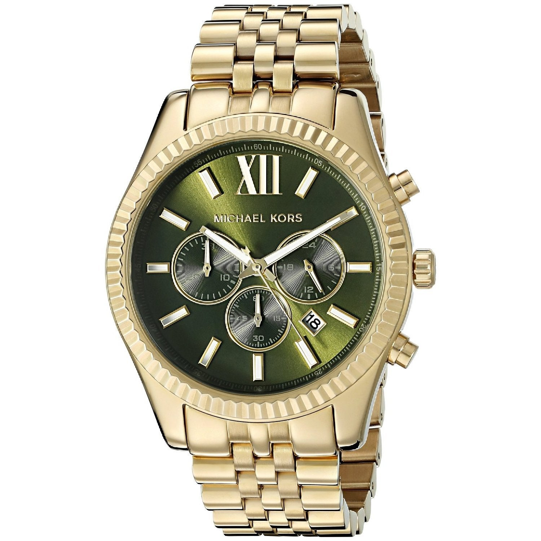 Michael Kors Mens MK8446 Lexington Chronograph Gold-Tone Stainless Steel Watch Michael Kors Mens MK8446 Stainless steel