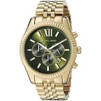 46f372de61d0 Michael Kors Men s MK8446  Lexington  Chronograph Gold-Tone Stainless Steel  Watch