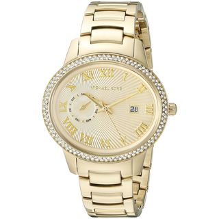 Michael Kors Women's MK6227 'Whitley' Crystal Gold-Tone Stainless Steel Watch