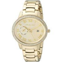 Michael Kors Women's  'Whitley' Crystal Gold-Tone Stainless Steel Watch