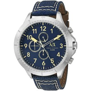 Armani Exchange Men's AX1756 'Romulous' Chronograph Blue Denim Watch