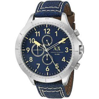 Armani Exchange Men's AX1756 'Romulous' Chronograph Blue Denim Watch