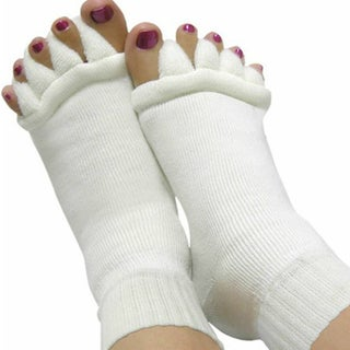 Women's Massaging Toe Separator Socks (Option: White)