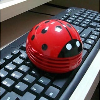 Mini Handheld Ladybug Keyboard Vacuum Cleaner (red)