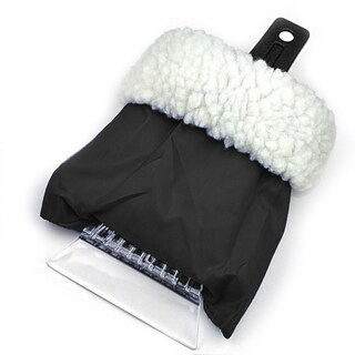 Sherpa Lined Ice Scraper with Glove (Option: Black)