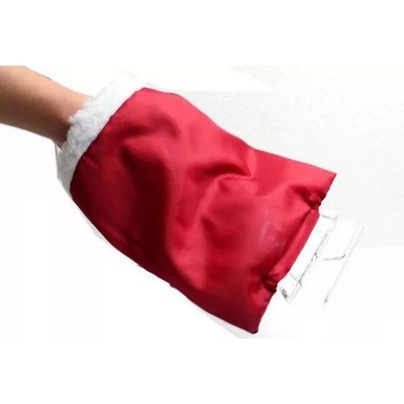Sherpa Lined Ice Scraper with Glove (Red) (Nylon) #100570