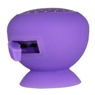Mini Wireless Bluetooth Suction Speakers (Option: Purple)