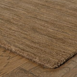 Handwoven Plush Wool Heathered Tan Rug (8' X 10') - 8' x 10'