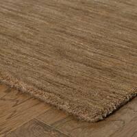 Handwoven Plush Wool Heathered Tan Rug (8' X 10') - 8' x 10'