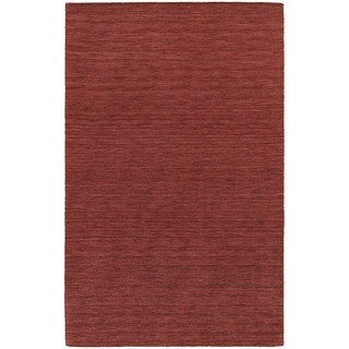 Handwoven Plush Wool Heathered Red Rug (8' X 10') - 8' x 10'