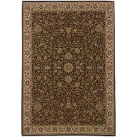 Updated Old World Persian Flair Brown/ Ivory Area Rug - 7'10 x 11'