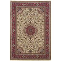 """Updated Old World Persian Flair Ivory/ Red Area Rug (7'10 x 11') - 7'10"""" x 11'"""
