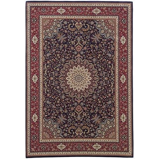 "Updated Old World Persian Flair Blue/ Red Rug (7'10"" X 11')"