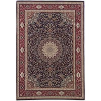 "Gracewood Hollow Eastman Persian Flair Blue/ Red Rug - 7'10"" x 11'"