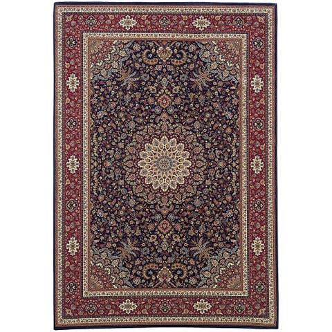 Gracewood Hollow Eastman Persian Flair Blue/ Red Rug