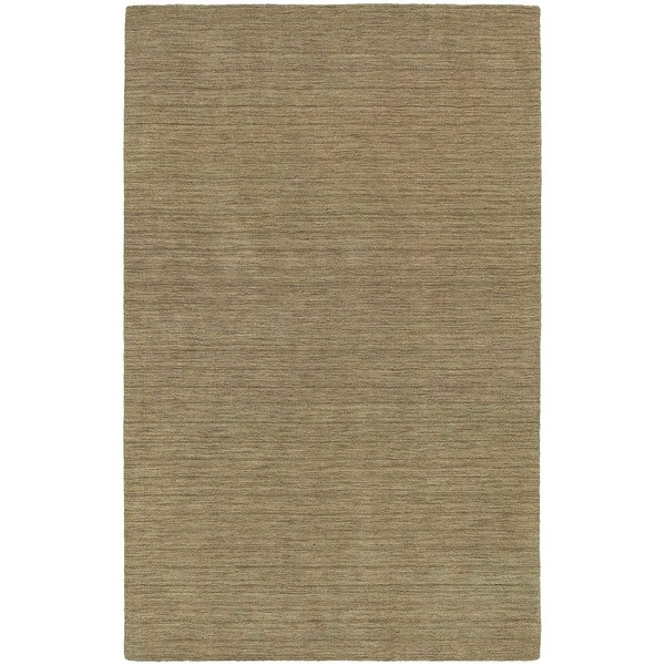 Handwoven Plush Wool Heathered Gold Rug (8' X 10') - 8' x 10'