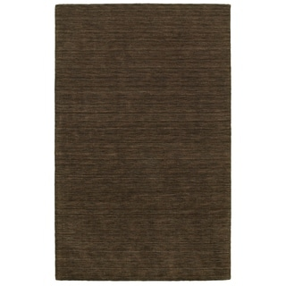 Handwoven Wool Heathered Brown Rug (8' X 10')