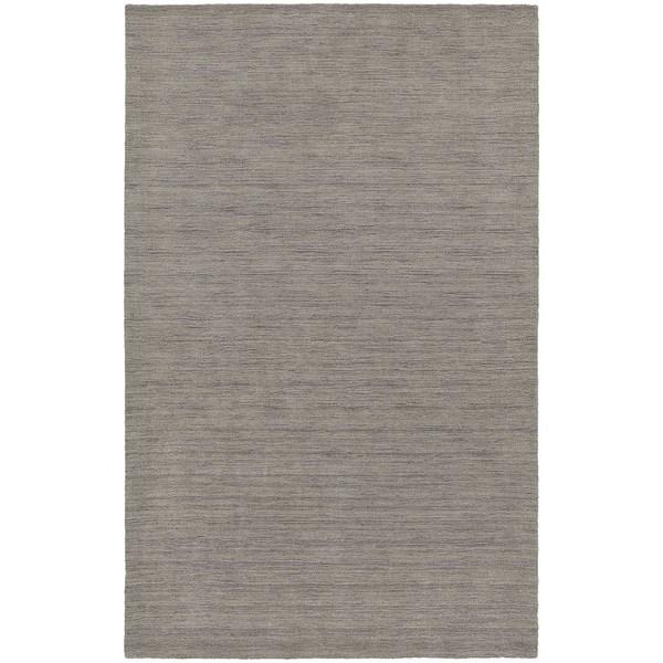Handwoven Plush Wool Heather Grey Area Rug (8'x10') - 8' x 10'