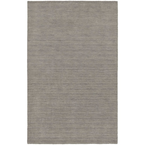 Handwoven Plush Wool Heather Grey Area Rug (8'x10') - 8' x 10'